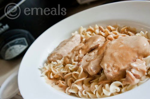 Creamy Crock Pot Pork Chops with Noodles
