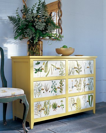 Botanical Decoupage With Diy Instructions From Martha