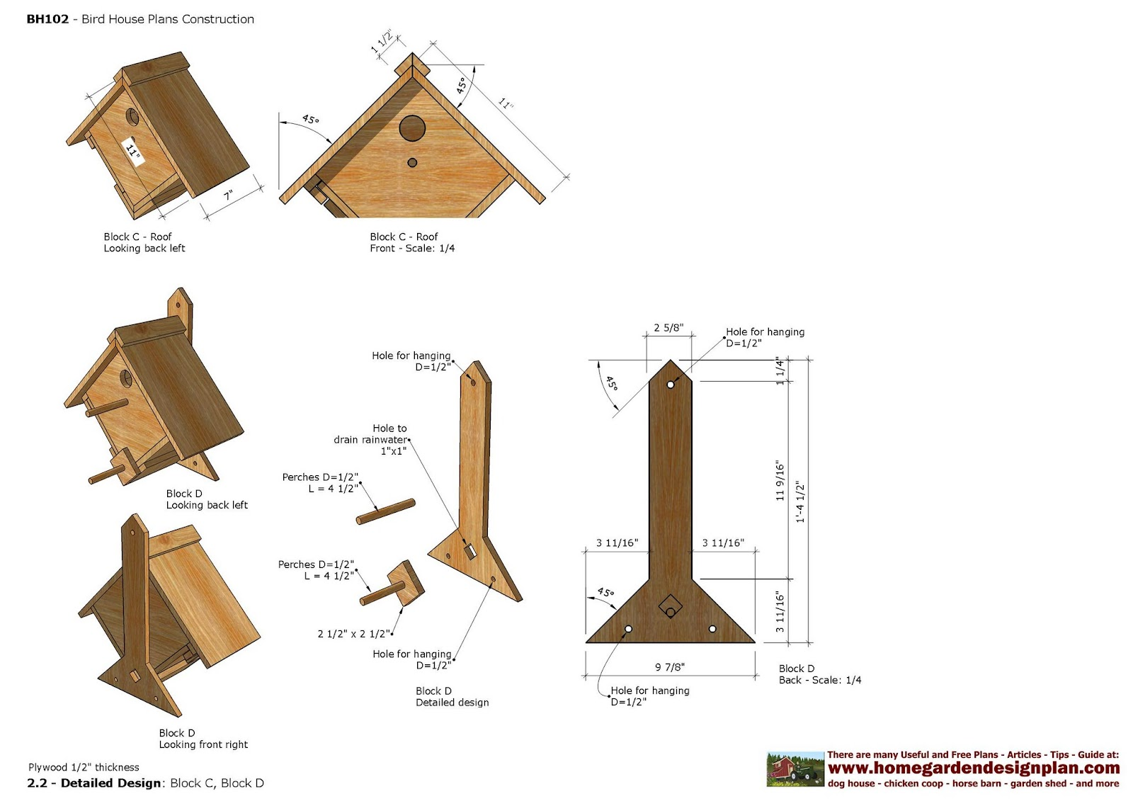 Home garden plans bh bird house plans construction for House construction plans