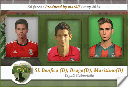 FM14 Team Pack Collection Benfica B, Braga B and Maritimo B