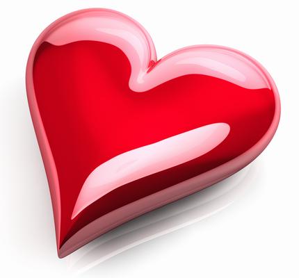 Glossy heart emoticon