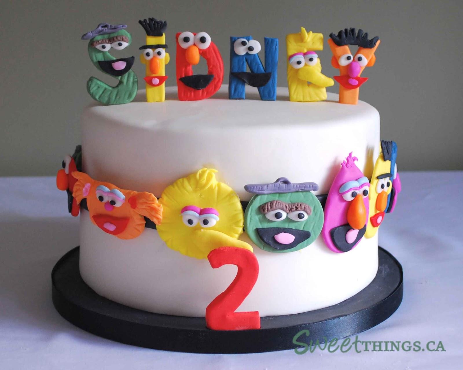 Cake Design Letters : SweetThings: 2nd Birthday Cake: Sesame Street Cake