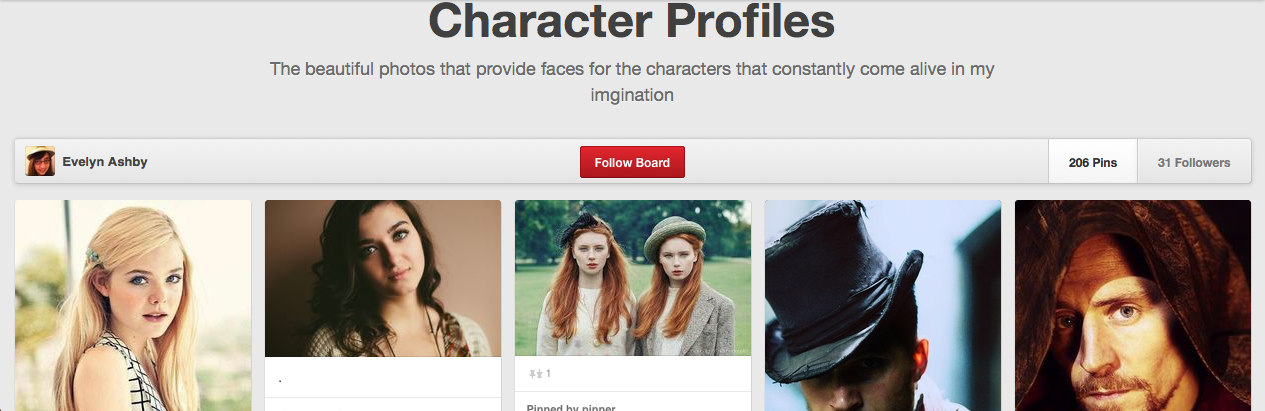 http://www.pinterest.com/evelynashby/character-profiles/