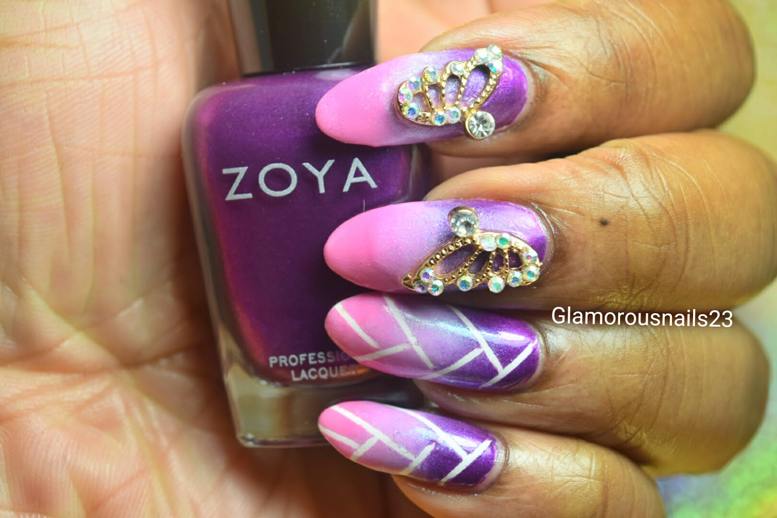 Braided Ombre Nail Art