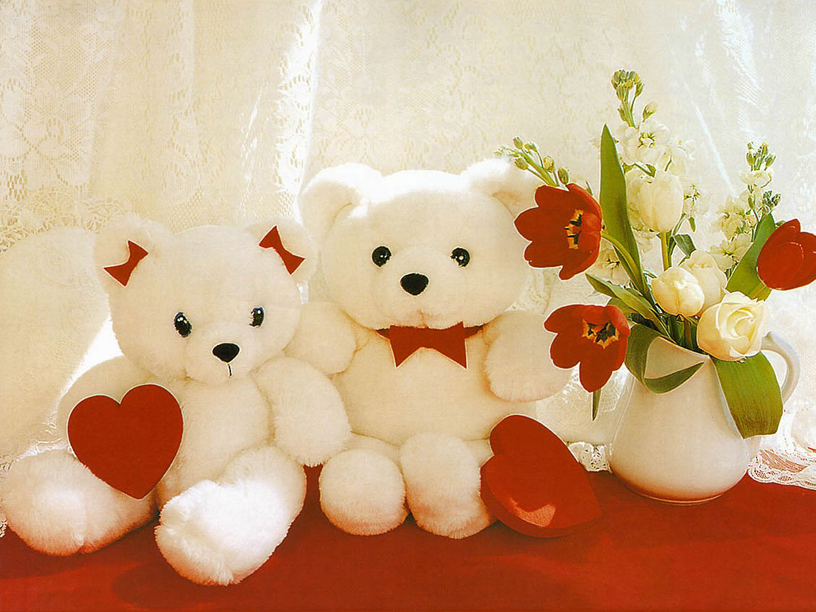 Cute Cartoon Bears With Hearts Cute teddy bear hd wallpapers