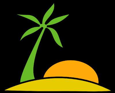 Desenho de deserto colorido