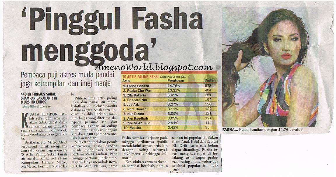 ... metro di atas berkenaan artis paling seksi di malaysia senarai artis