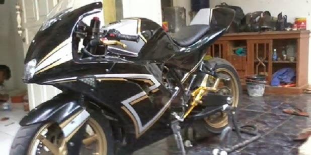 Modifikasi Yamaha Scorpio Bergaya GP