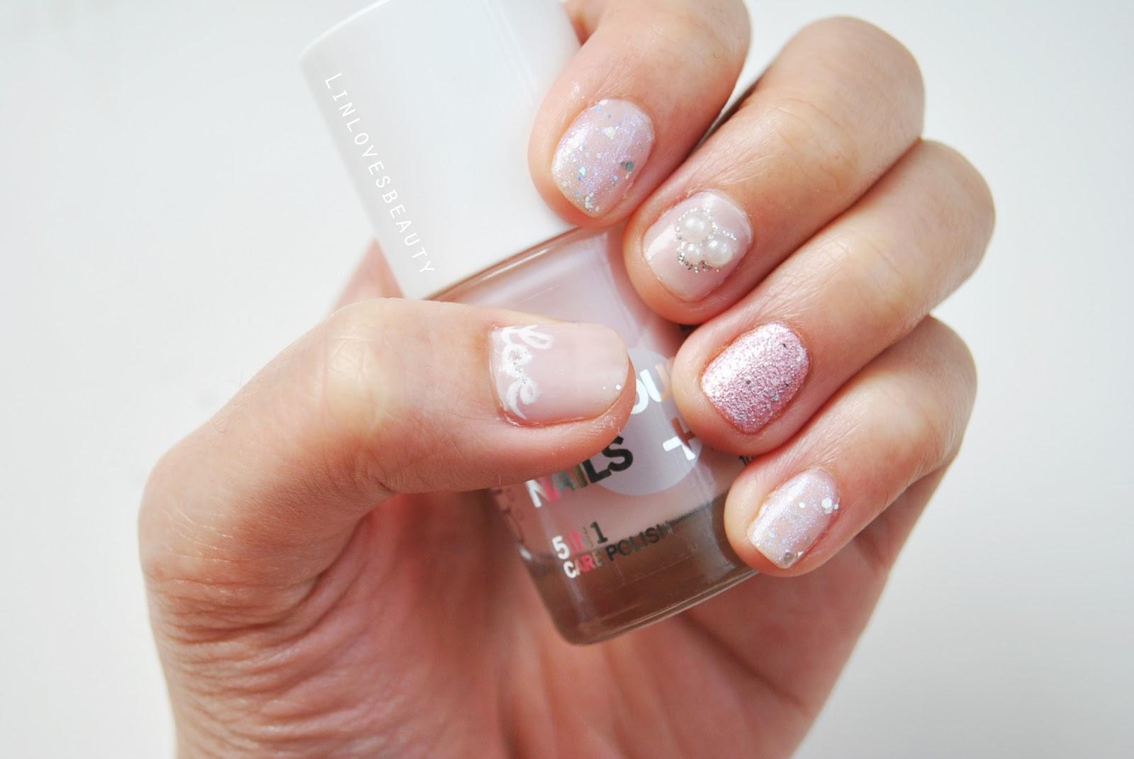 Linlovesbeauty: Pink Glitter Nails