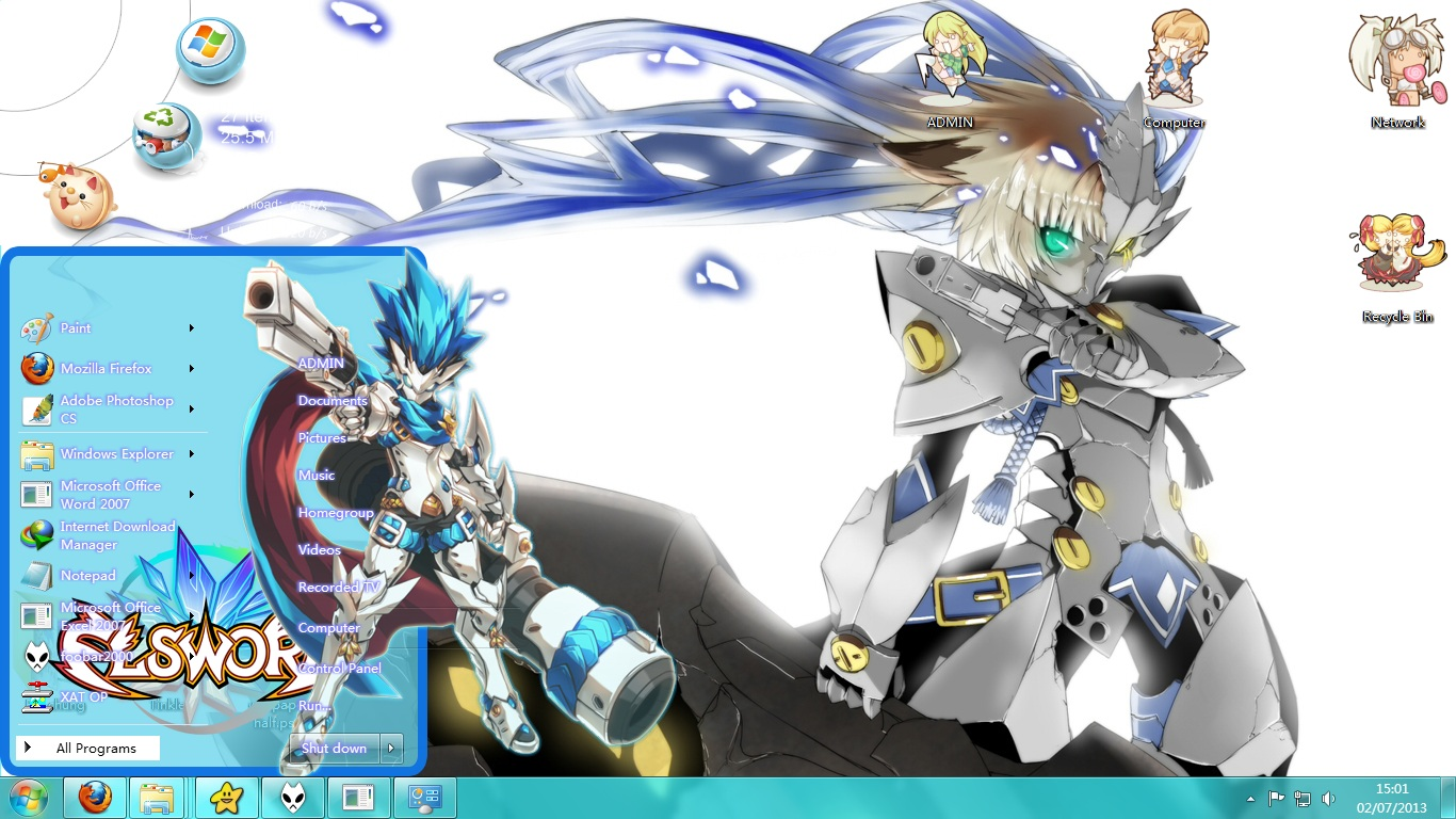 Theme Win 7 Elsword Ver Chung Seiker By Kanza Themes Anime