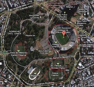 estadio Centenario, Parque Palermo, Miramar Misiones, google maps