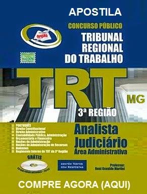 Apostila Concurso TRT MG - Tribunal Regional do Trabalho/MG 2015.