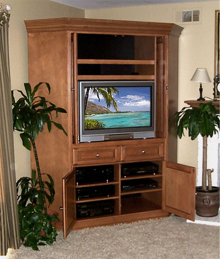 Corner entertainment center love all people Design plans for entertainment center
