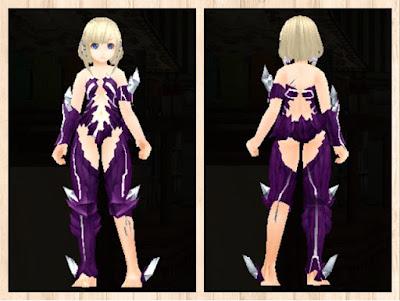魔結晶の鎧 紫1+白3染色