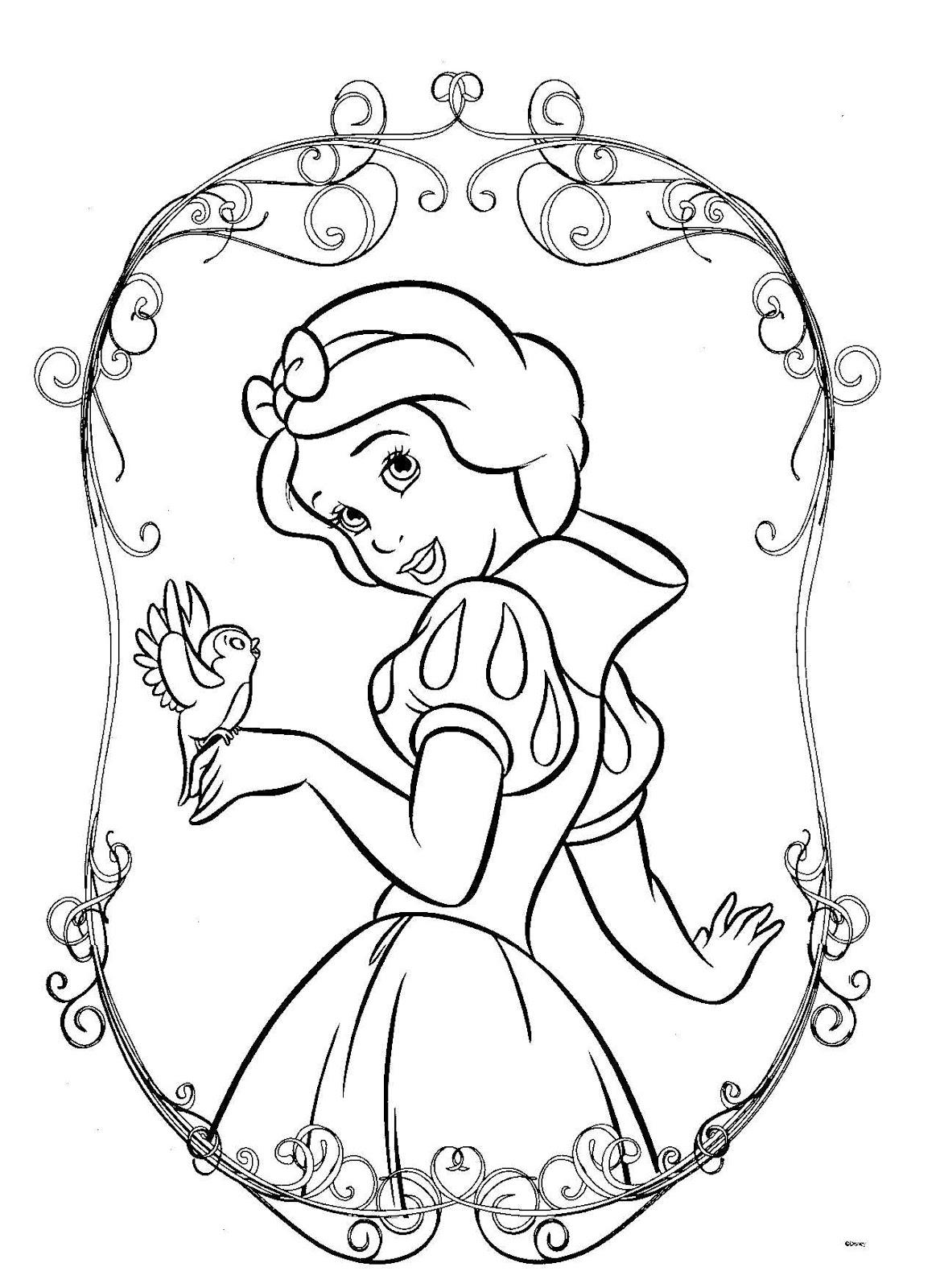 Fantástico Princesa Libre Para Colorear Para Imprimir Modelo ...