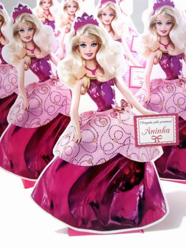 enfeite de mesa barbie escola de princesas