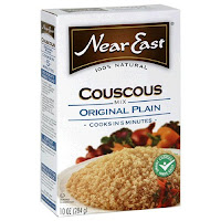 A box of Near East couscous - available in most supermarkets