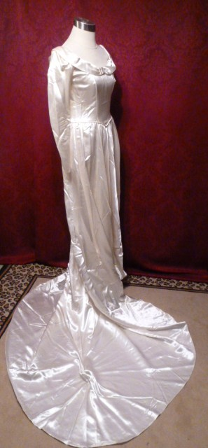 1940s A Bridal Creation Original Skinner Satin Wedding Gown