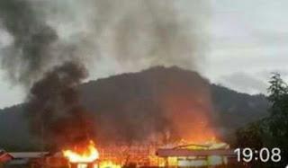 Bilik kelas SK Bario terbakar