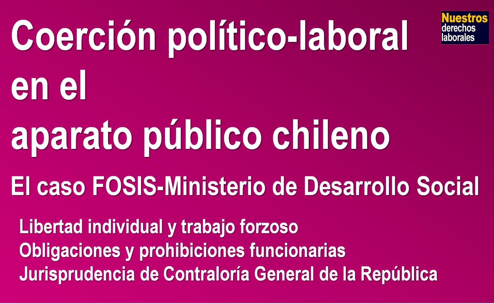 Coerción político-laboral en el aparato público chileno.