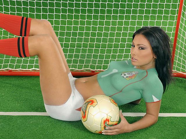girl sexy body holding the ball again
