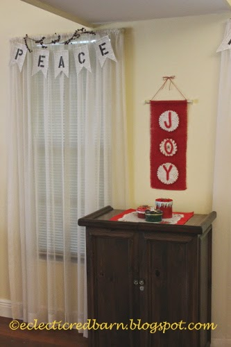 Eclectic Red Barn: Peace banner and JOY banner