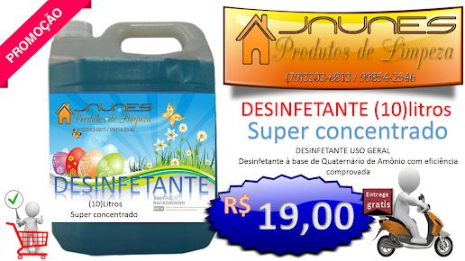 desinfetante conc, 10 litros super perfumado com bicarbonato