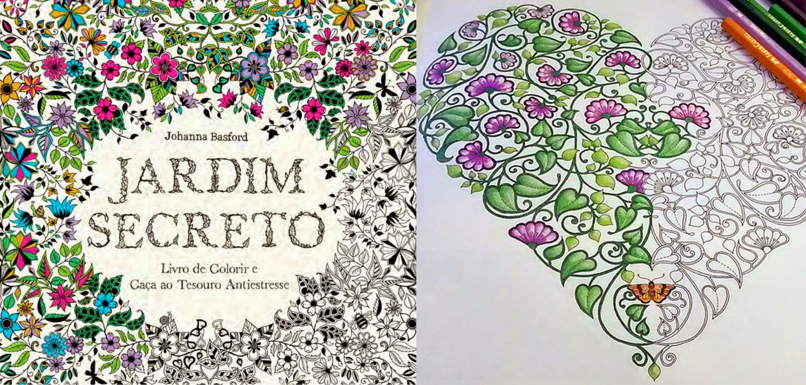 Livro Jardim Secreto Desenhos para colorir e imprimir do  - imagens para colorir jardim encantado