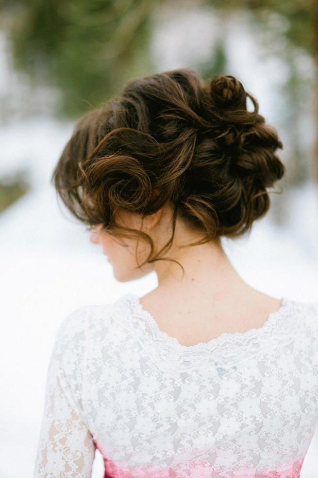 свадебные прически на темный волос