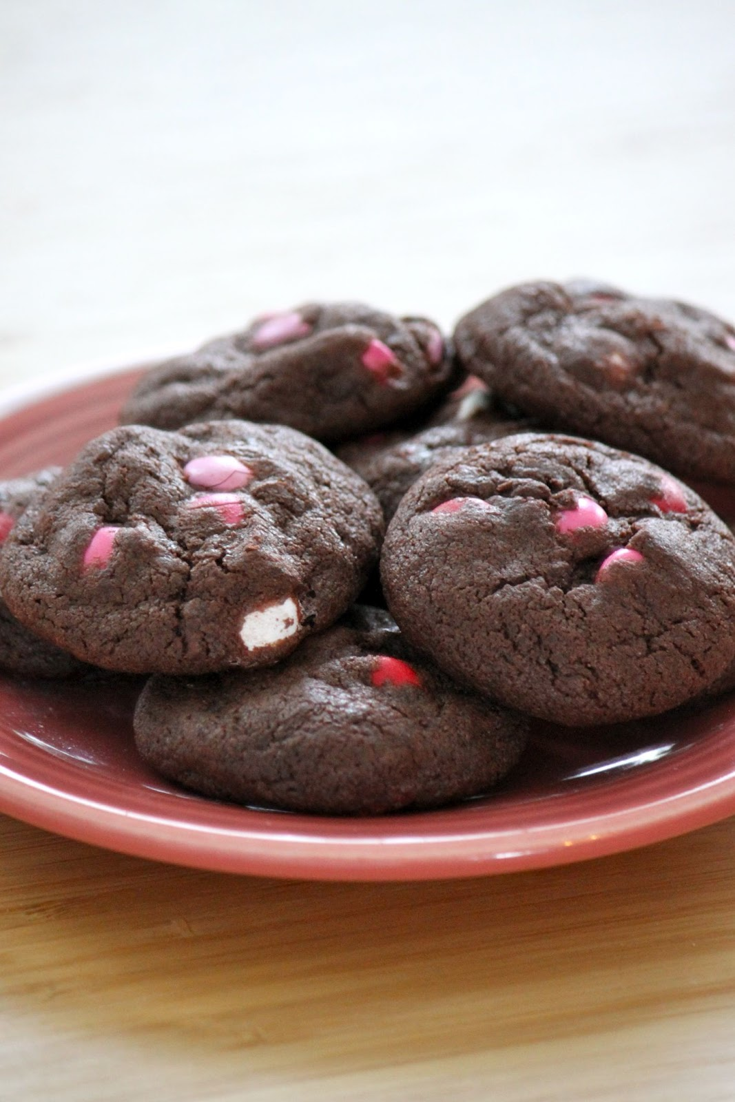 Baked Perfection: Chocolate M&M Cookies for Valentine's Day