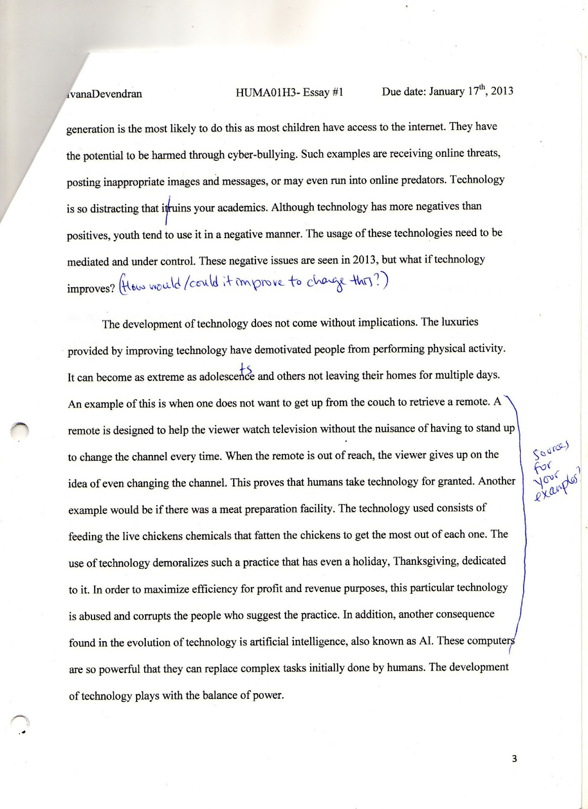 key questions in humanities journal journal entry short essay  feedback as this was my first formal essay for the class i wasn t sure of how my paper would get graded when learning to write and adding elements of