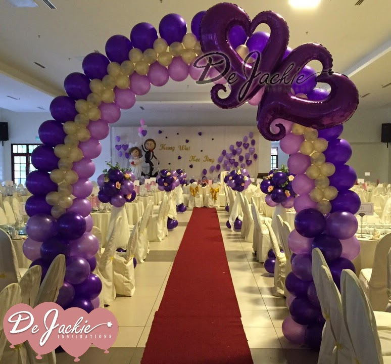 Balloon decorations for weddings birthday parties balloon wedding decoration jubilee hall kuching junglespirit Gallery
