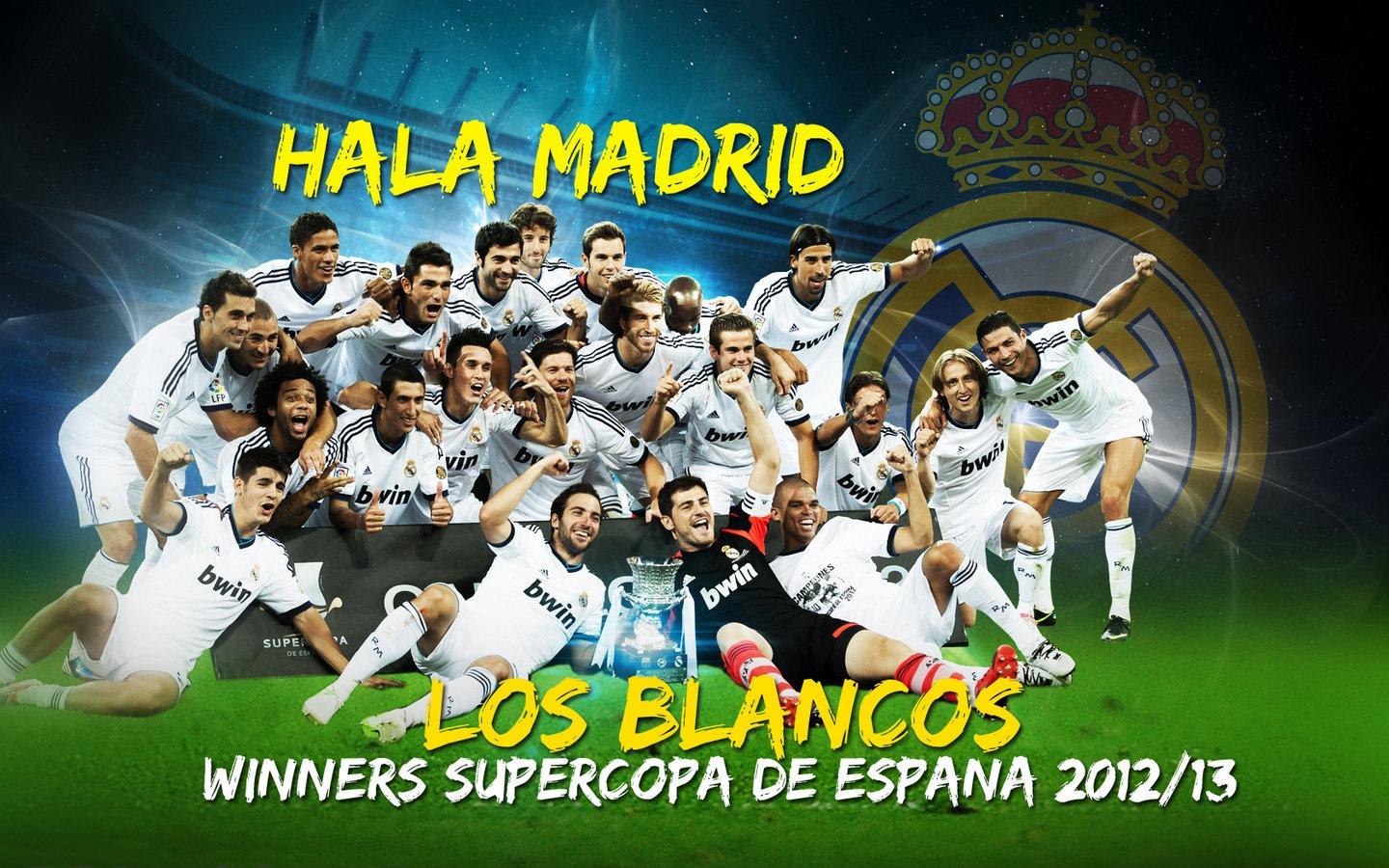 Real Madrid Team New Wallpapers 2012