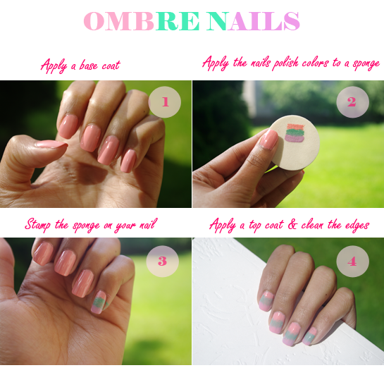 How to Ombre Nails, Ombre Nails, Nailart, Nail design