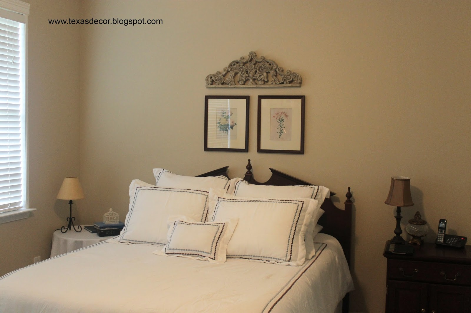 Texas Decor Quick Master Bedroom Update Painting Picture Frames