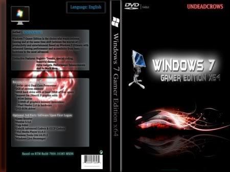 Windows 7 Gamer Edition x64 Full Version - Download ...