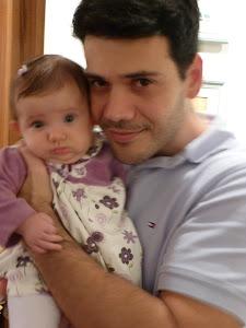 Ricardo e sua filha Luiza