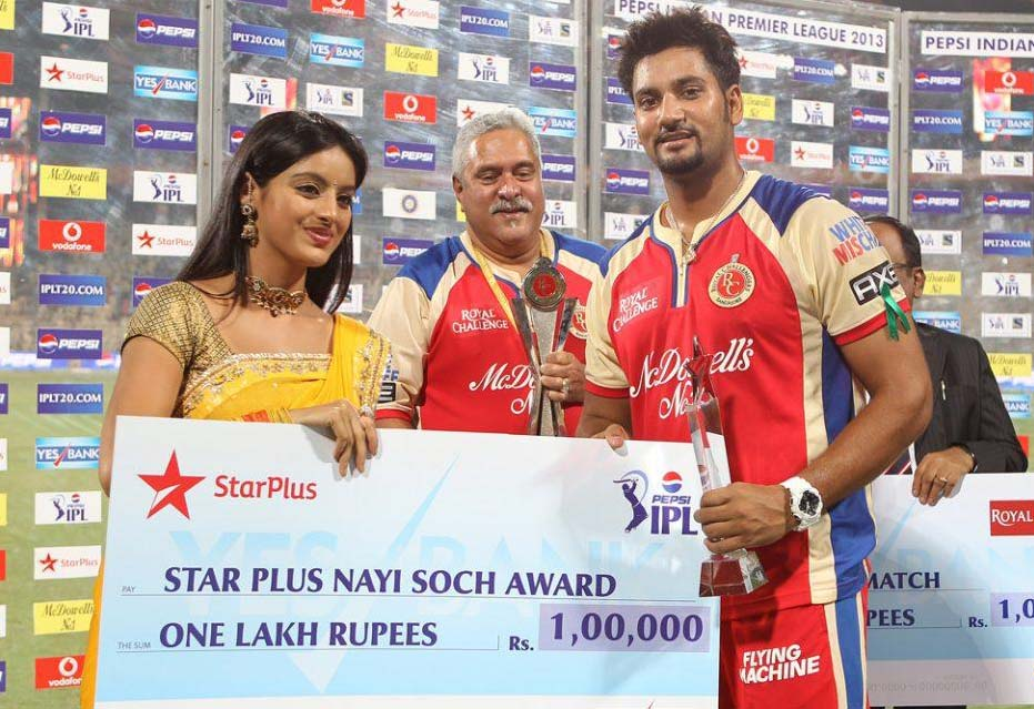 Ravi-Rampaul-Star-Plus-award-RCB-vs-DD-IPL-2013