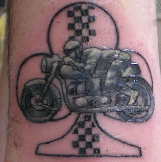 Motercycle Racing Ankle Tattoo