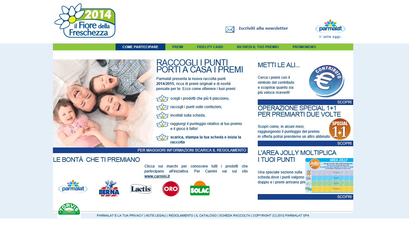 Raccolta Punti Parmalat: Il Fiore della Freschezza 2014