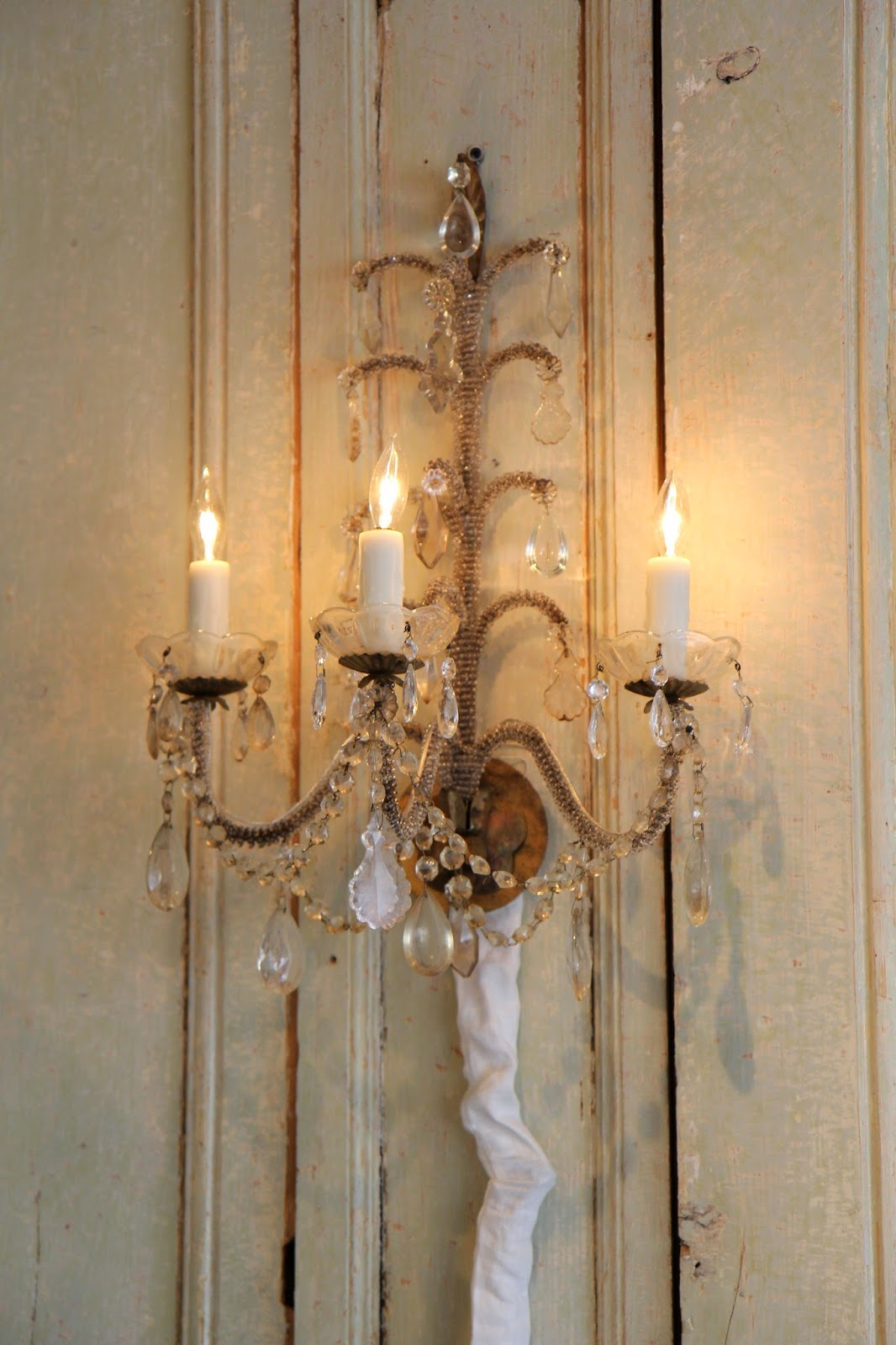 Macaroni beaded sconce; Inspirational Chandeliers and Sconces; Nora's Nest