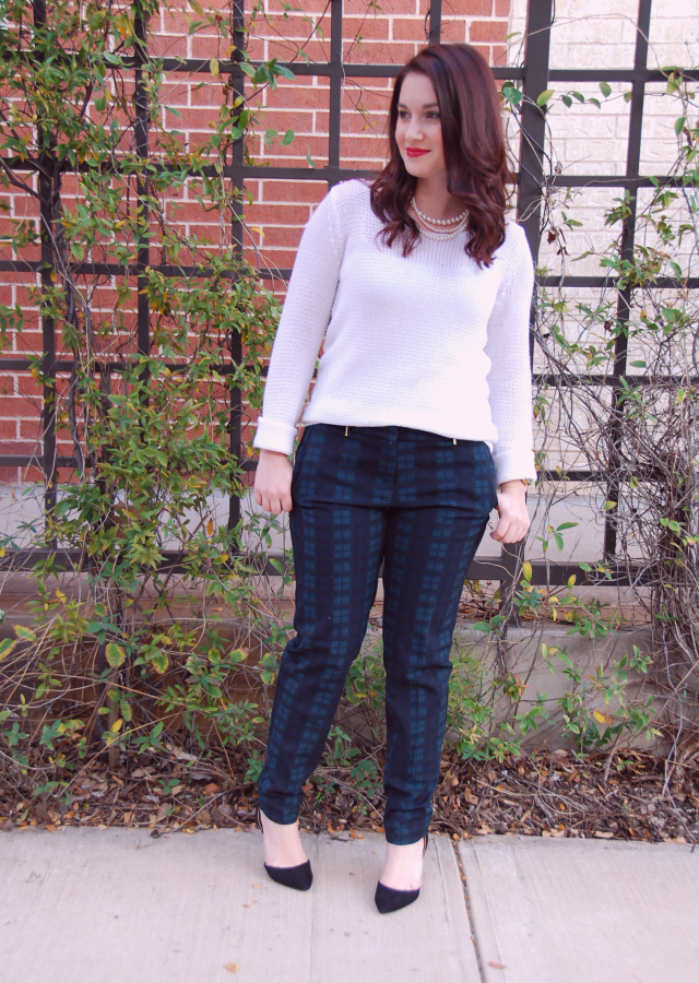 Style Diary: Work Wear: Plaid Trousers