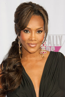 Vivica A Fox Side Ponytail Hairstyle