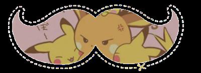 Acessórios: 15 Moustaches Personalizados - Pokémon