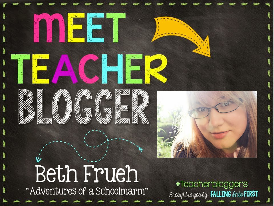 I am Beth Frueh (pronounced FREE), a 30-something elementary teacher from the great state of Ohio! I just finished my first DECADE of teaching!!!