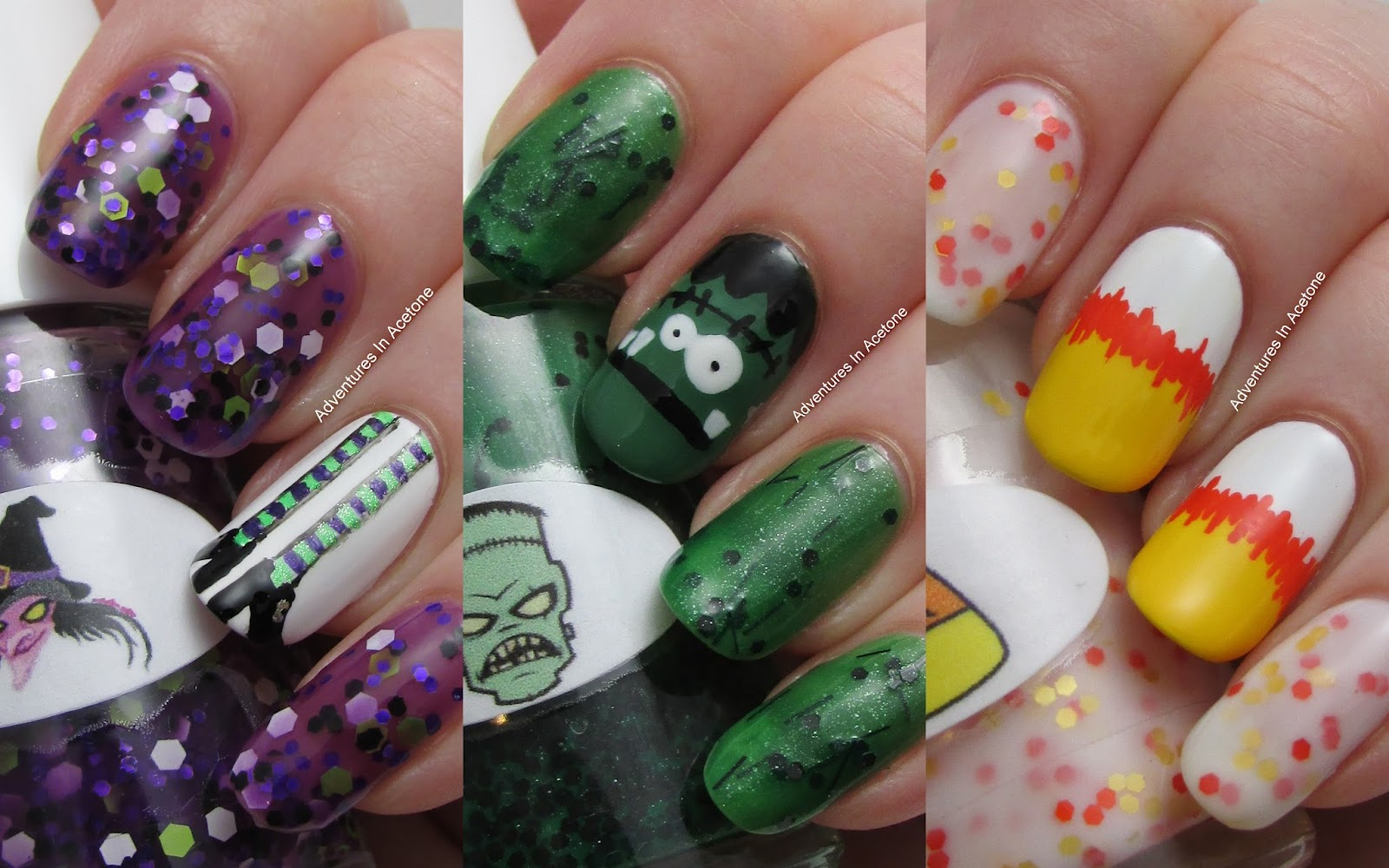 Giveaway The Nail Junkie Witch Frankenstein And Candy Corn Nail