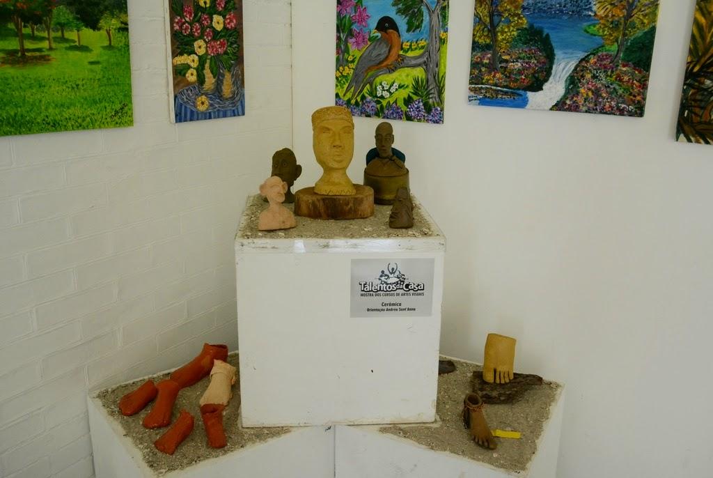 Fazendo parte do  Talentos da Casa também se encontra expostos na Casa de Cultura trabalhos dos cursos de Artes Visuais