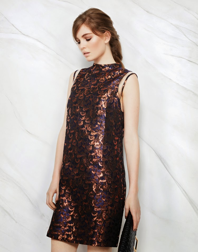 MARKS AND SPENCER LIMITED EDITION DRESS £49.50, BAG £25