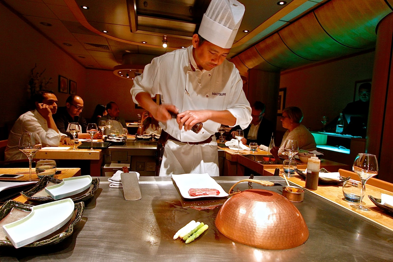 The london foodie the real mccoy of teppanyaki for Asian cuisine restaurant