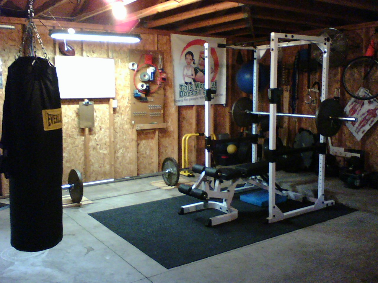 garage turned gym